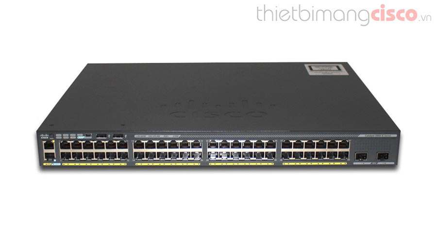 Cisco WS-C2960X-48LPD-L, Cisco WS-C2960X-48LPD-L Catalyst 2960-X 48 GigE PoE 370W, 2 x 10G SFP+ LAN Base