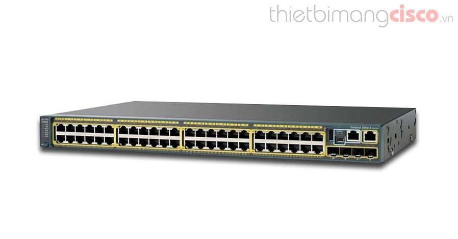 Cisco WS-C2960S-48TS-L, Switch Cisco WS-C2960S-48TS-L 48Port Gigabit, 4 x 1G SFP