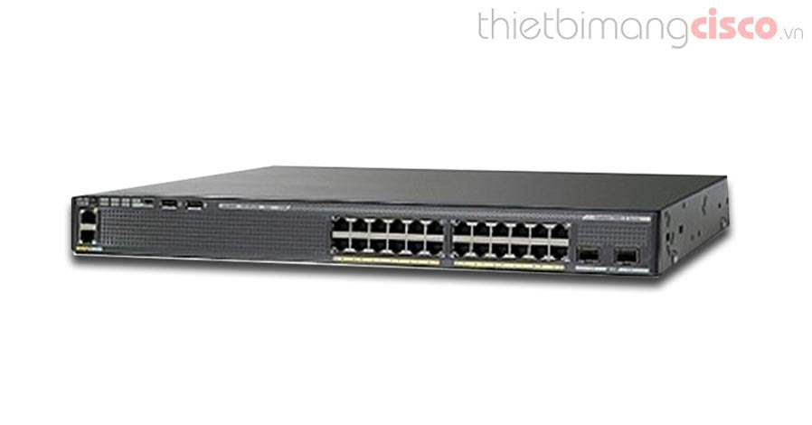 Cisco WS-C2960XR-24PS-I, WS-C2960XR-24PS-I 24 GigE PoE 370W, 4 x 1G SFP, IP Lite