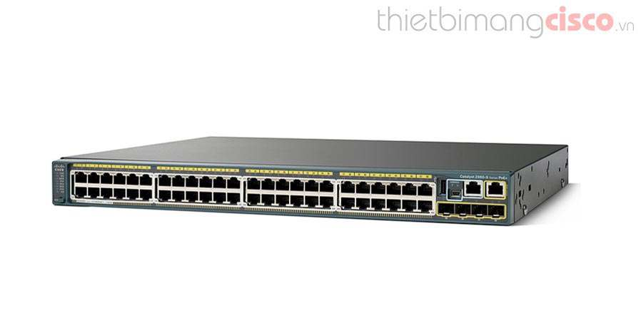 Cisco WS-C2960S-48FPS-L, Switch Cisco WS-C2960S-48FPS-L 48 Port Gigabit Ethernet , 4 x 1 SFP , PoE
