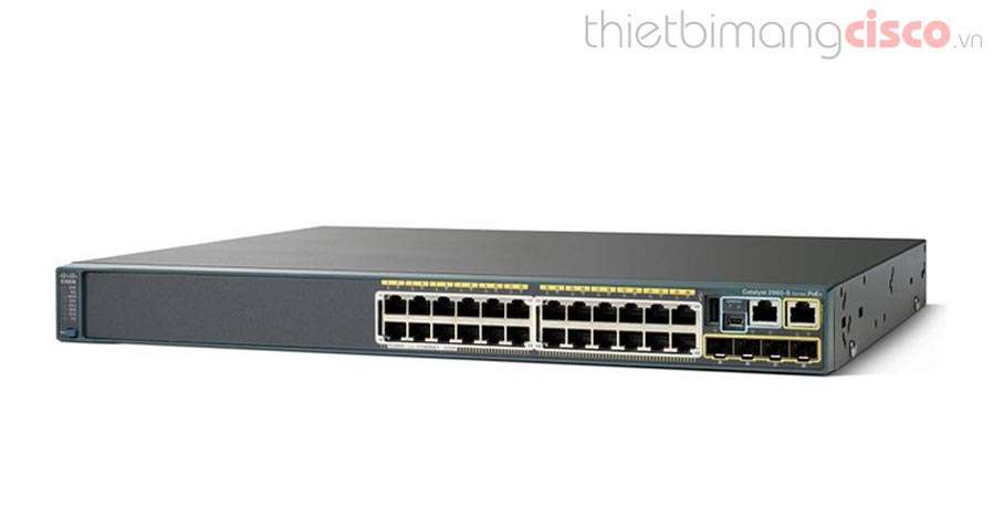 CISCO WS-C2960S-24PS-L, Switch Cisco 24 cổng PoE WS-C2960S-24PS-L chính hãng