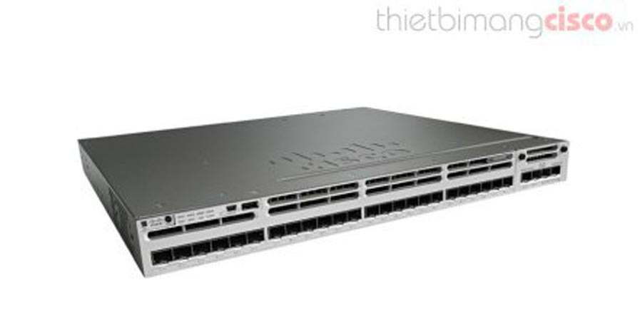 Cisco WS-C3850-24S-S, Cisco WS-C3850-24S-S 24-Port SFP Ethernet IP Base