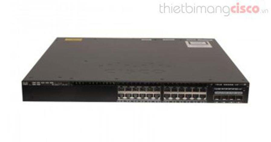 Cisco WS-C3650-24PD-S, Cisco Catalyst WS-C3650-24PD-S, 24 Port PoE 2x10G Uplink IP Base