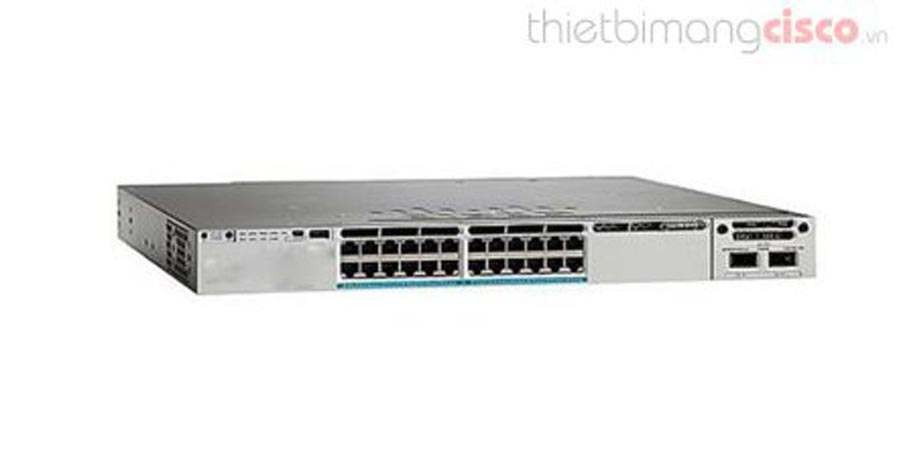 Cisco WS-C3850-24XU-E, Cisco WS-C3850-24XU-E 24 100Mbps/1/2.5/5/10 Gbps UPOE Ethernet Port