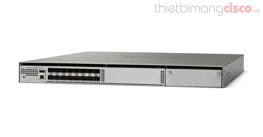 Cisco WS-C4500X-16SFP+, Cisco WS-C4500X-16SFP+ 16 Port 10G IP Base, Front-to-Back