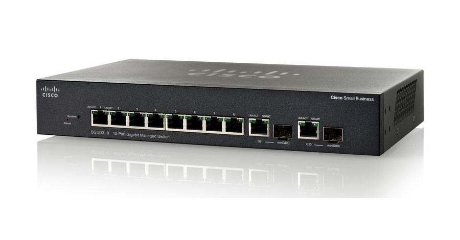 Cisco SG300-10, Cisco SG300-10 8 port Gigabit Managed Switch