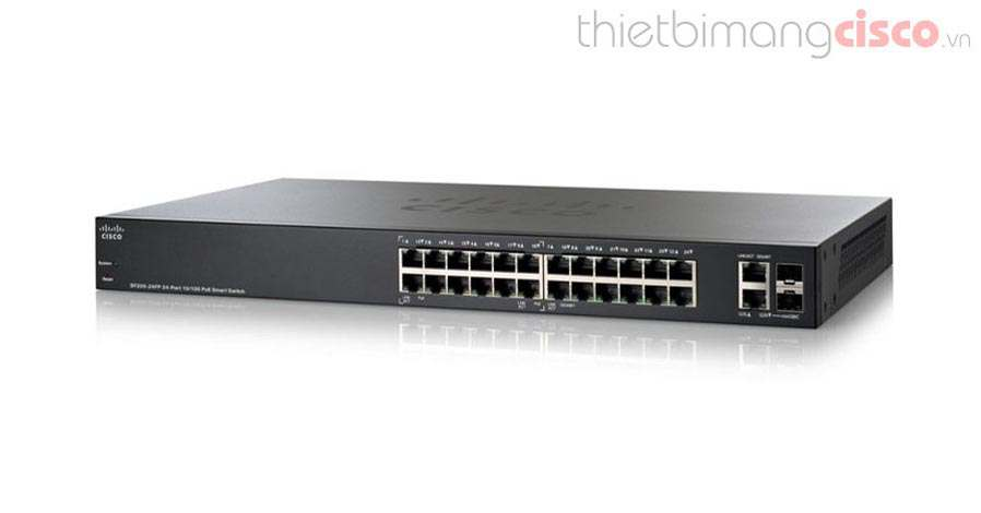 Cisco SF220-24-K9-EU, Cisco SF220-24-K9-EU 24-Port 10/100 Smart Switch chính hãng