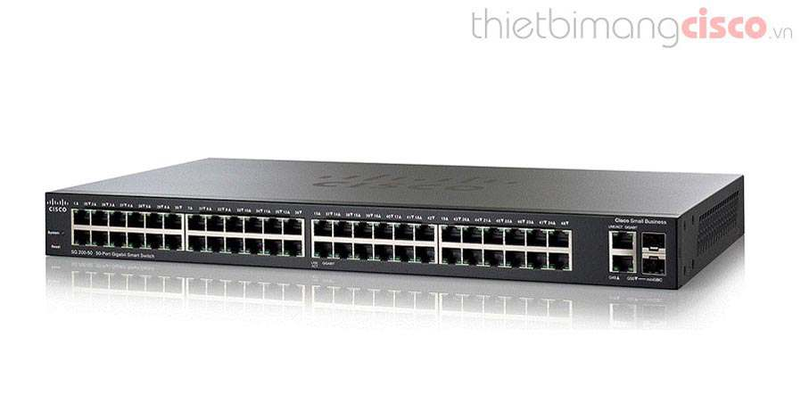 Cisco SG250-50P-K9-EU, Cisco SG250-50P-K9-EU 50P-Port Gigabit PoE Smart Switch