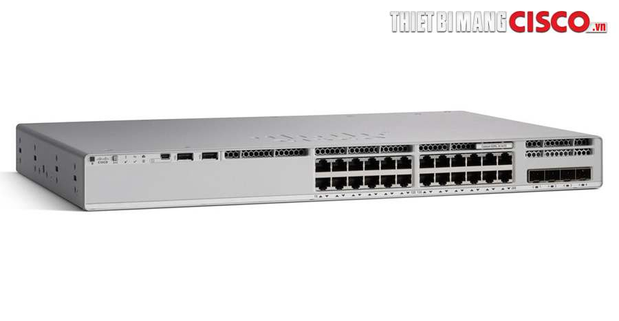 C9200L-24P-4G-E, C9200L-24P-4G-E Cisco Catalyst 9200L 24-ports PoE+ 4x1G uplink Switch, Network Essentials