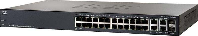 Cisco SRW224G4-K9 (SF300-24) 24x10/100 2xSFP 2xPort10/100/1000