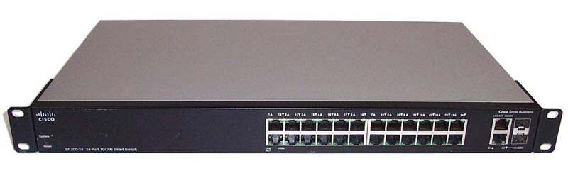 Cisco SLM224GT-EU (SF200-24) 24 ports 10/100 Mbps + 2 ports combo mini-GBIC
