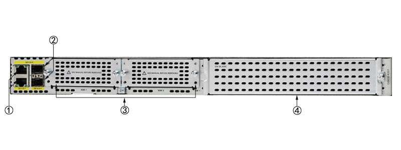 Thông tin mặt sau Router ISR4331 / K9