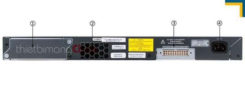 Thông tin ở mặt sau Cisco WS-C2960X-24TS-L