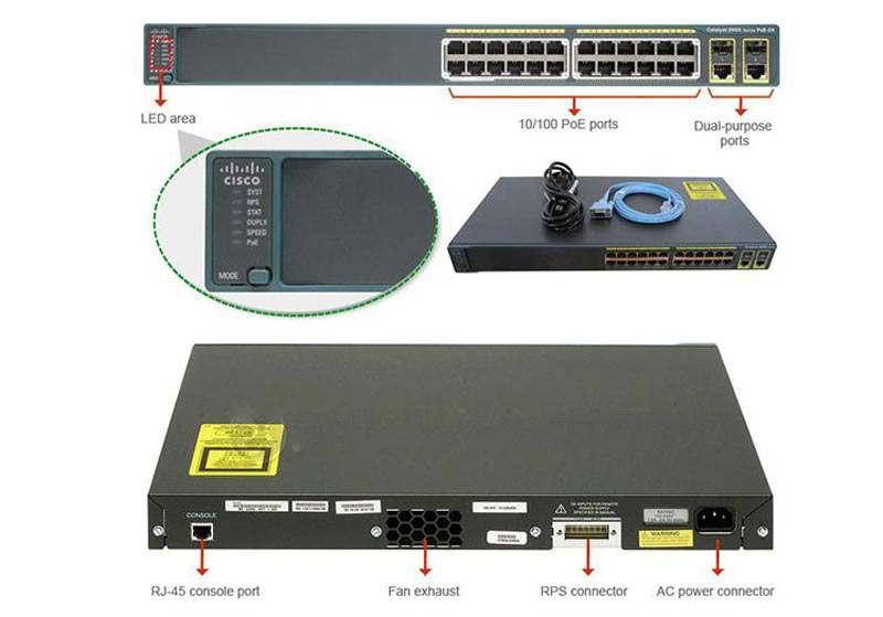 Switch PoE 2960 24 ports, 48 ports Cisco chính hãng, Switch