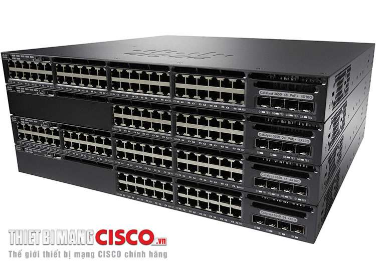 Switch Cisco 3650 với khả năng Stackable