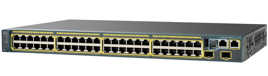 CISCO WS-C2960X-48TS-L Catalyst 2960-X 48 GigE  4 x 1G SFP  LAN Base