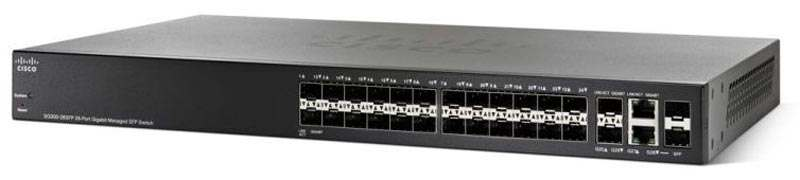 Cisco SG300-28SFP 28 port Gigabit SFP Managed (26 Gigabit SFP ports, 2 Combo mini-GBIC ports)