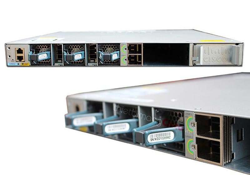 Mặt sau Switch Cisco C3850-24T-S