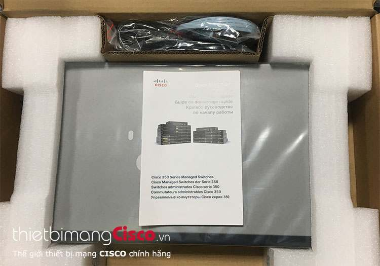Mở hộp Switch SG350-28MP-K9-EU